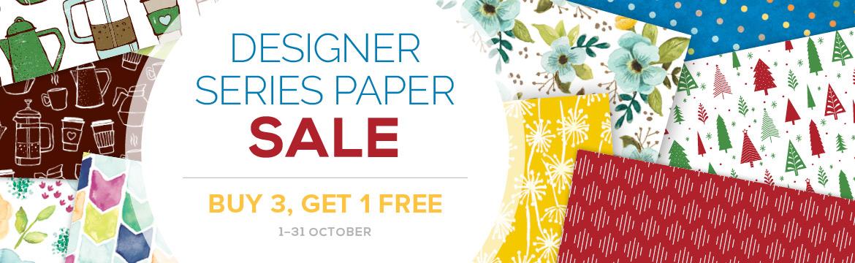 Designer Series Paper Sale 1-31st October