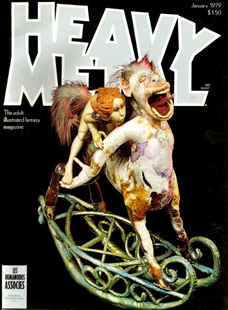 Heavy Metal Magazine Covers From The 1970s Vintage Everyday