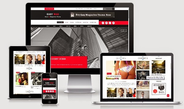 Easy Magazine Blogger Template Responsive Image