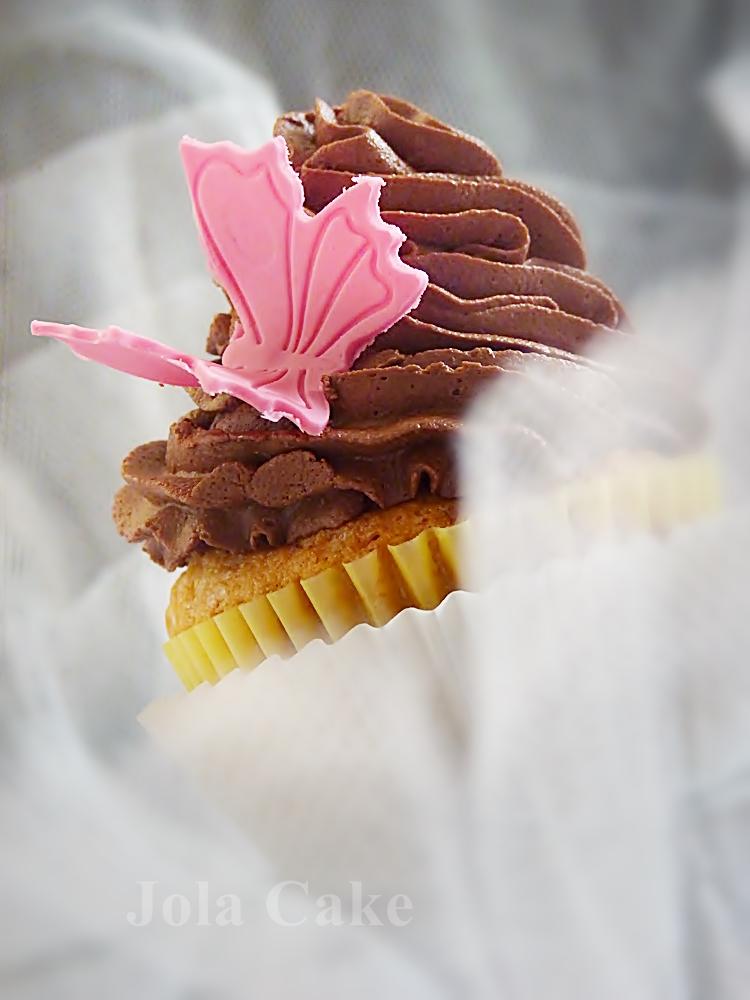 Cupcke z kremem kakaowym