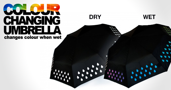 Suck UK Color Changing Umbrella