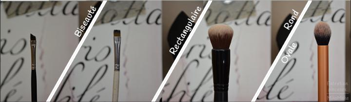 Le guide des pinceaux : à quoi sert ce pinceau, explication, utilisation en maquillage du teint, lèvres et yeux, fards