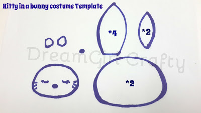 My kawaii craft creations tutorial hello kitty in bunny for Hello kitty mask template