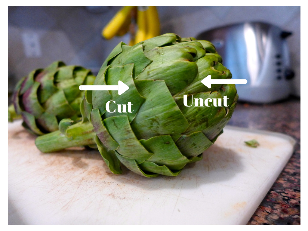 Cleaning artichoke