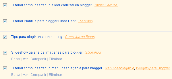 Cómo crear, eliminar y cambiar las etiquetas en Blogger