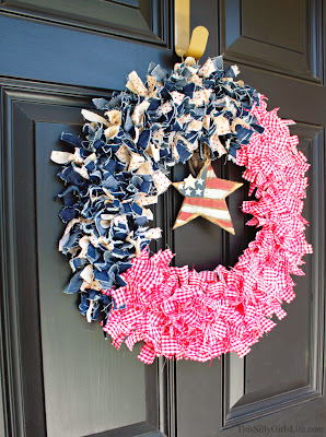 4th of July DIY Patriotic Wreath