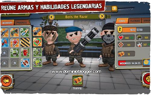 Recluta y entrena tu ejercito para el juego Pocket Troops