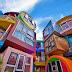 Colorful Buildings Reversible Destiny Lofts Mitaka, Tokyo
