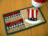 Uncle Sam Mug Rug