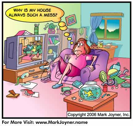 Messy Living Room Clipart Free House Cleaning Cartoons