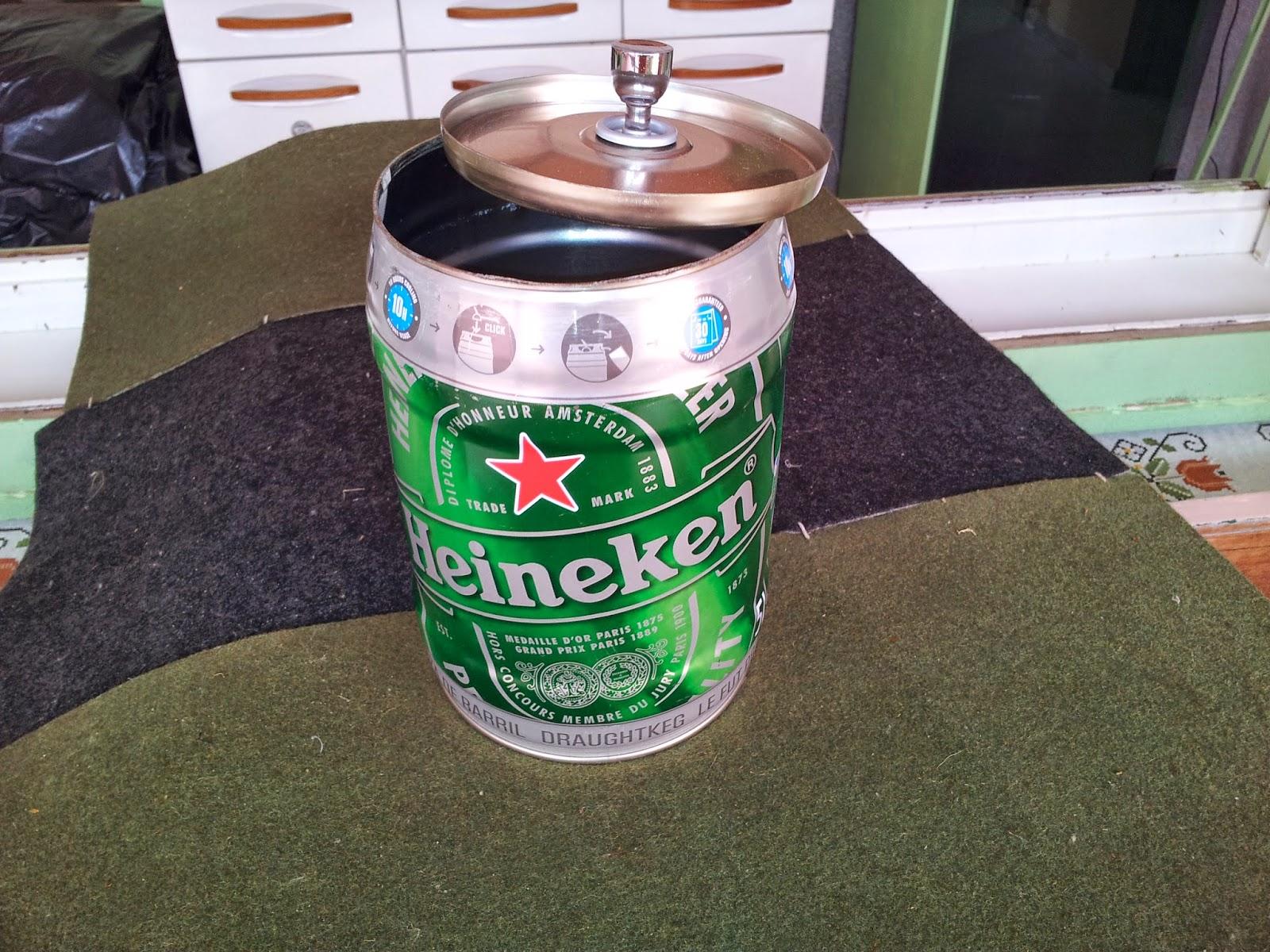 Oficina do Quintal Como fazer um cesto de lixo com barril de Heineken