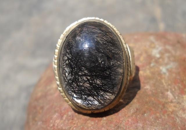 KCB33- SOLD- Batu Kecubung Rambut Hitam - Antik!!!