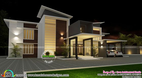Villa plan in contemporary style