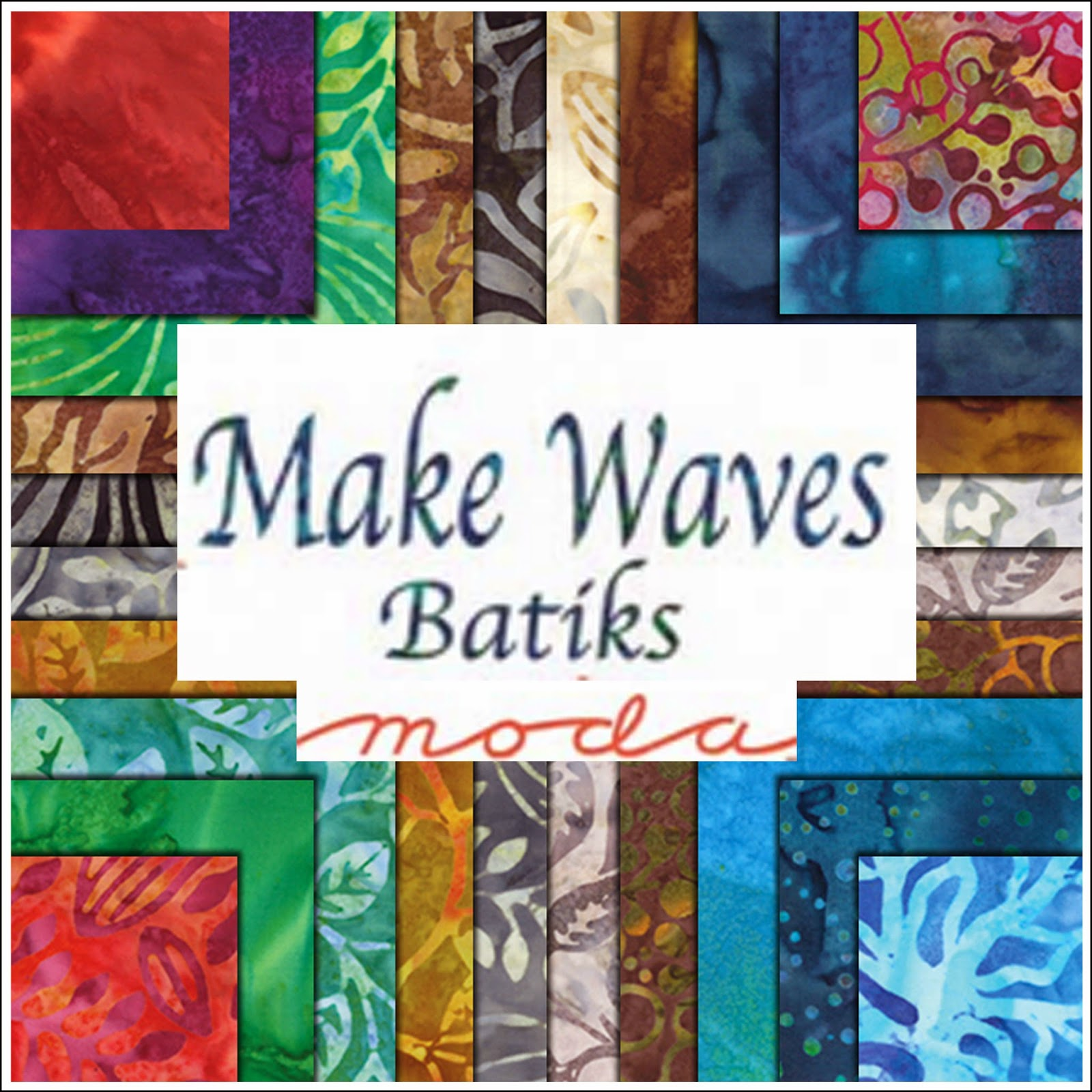 Moda MAKE WAVES BATIKS Quilt Fabric by Moda Fabrics
