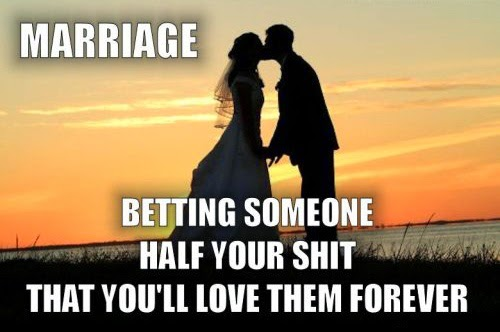 Marriage betting someone half your