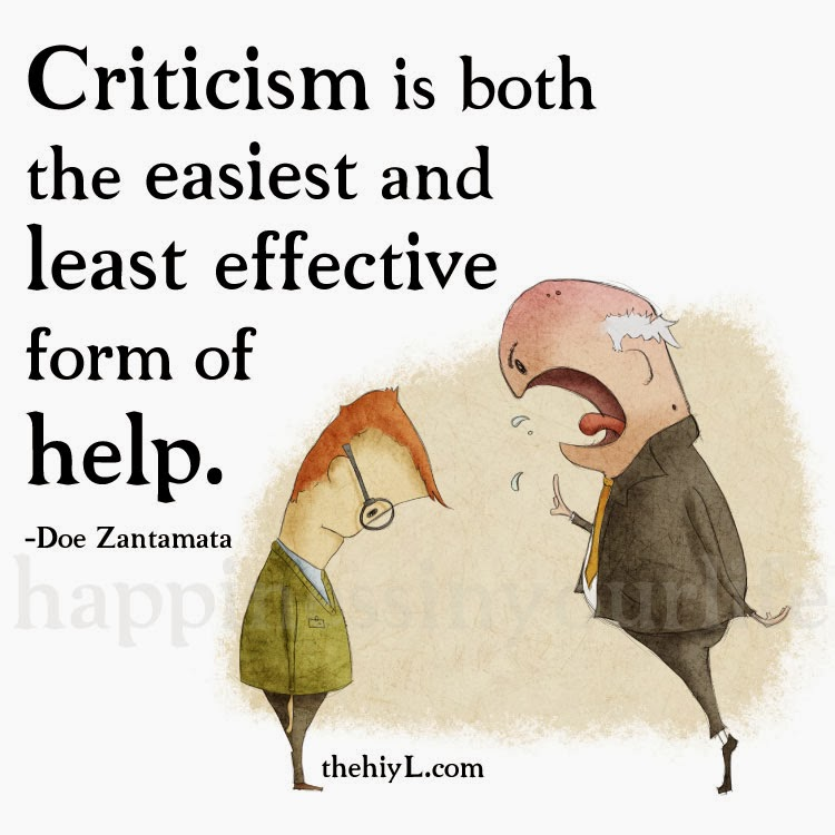 Six reasons why criticism is a good thing