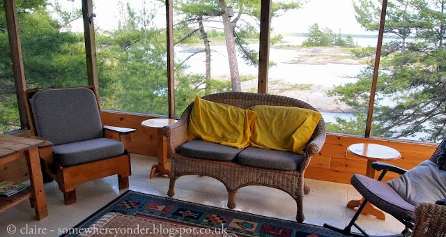 view from the living area of the cottage - Georgian Bay, Canada