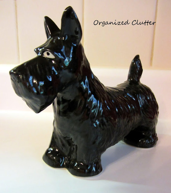 Small Ceramic Vintage Scottie Dog Figurine Maybe made in Japan