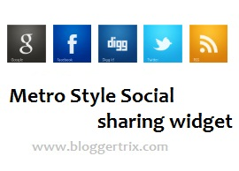 metro style social buttons