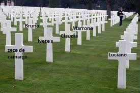 Cruz em cemitério, Túmulos