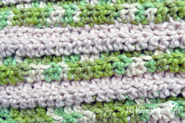 Ribbed Baby Cocoon Crochet Pattern - Step 1