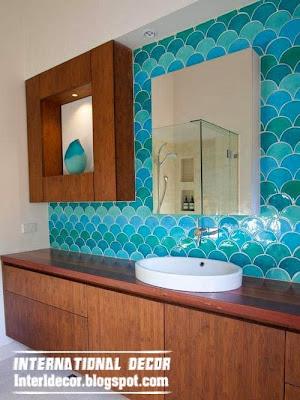 Turquoise bathroom unusual turquoise bathroom themes for Quirky bathroom decor