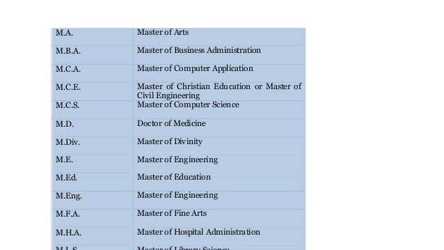master of science
