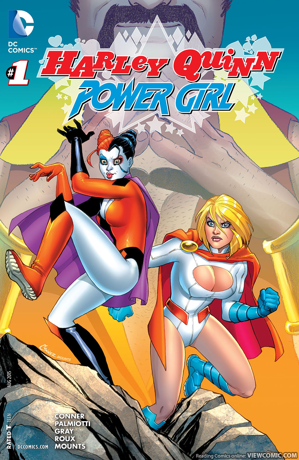 harley quinn and power girl reading comics online for free