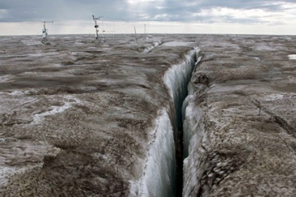 Hielo oscuro Groenlandia