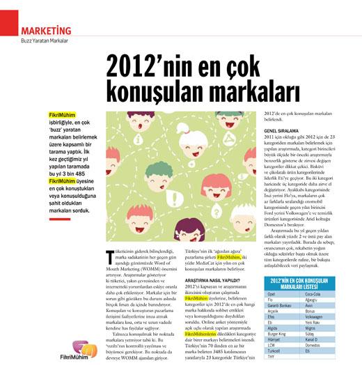 Buzz yaratan markalar - 2012