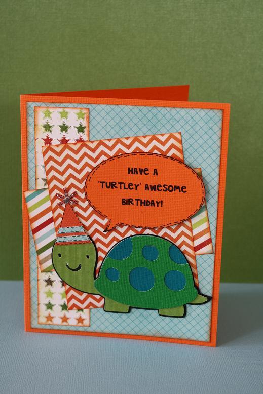 Carlas scrappy tales A turtley awesome birthday card – Awesome Birthday Cards