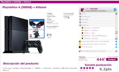 Parece ser que hay stock de PS4 en algunas tiendas Game