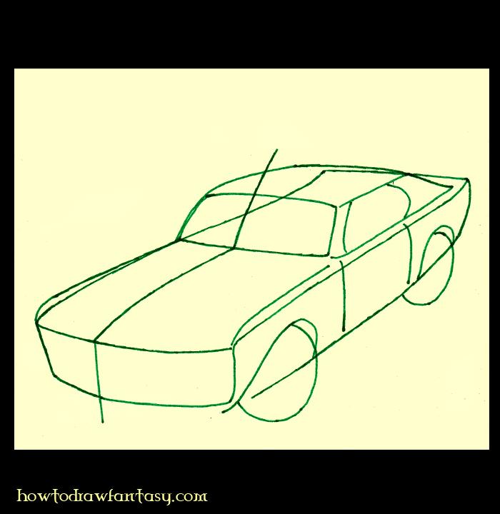 Como Dibujar Un Carro Paso A Paso