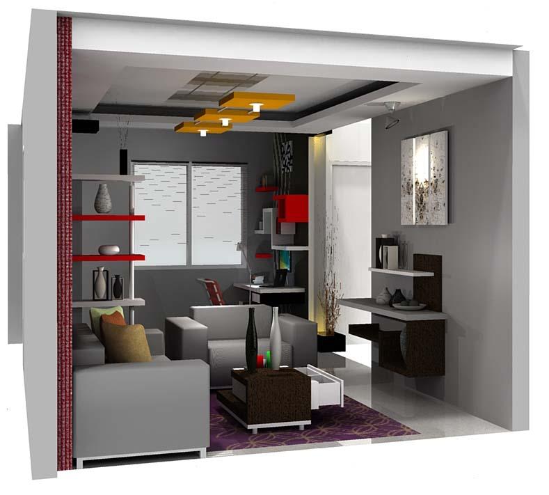 ruang tamu desain interior rumah minimalis modern share