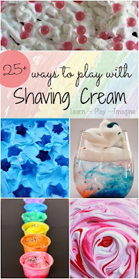 25+ shaving cream activities for kids:  art, sensory play, learning activities, and more!
