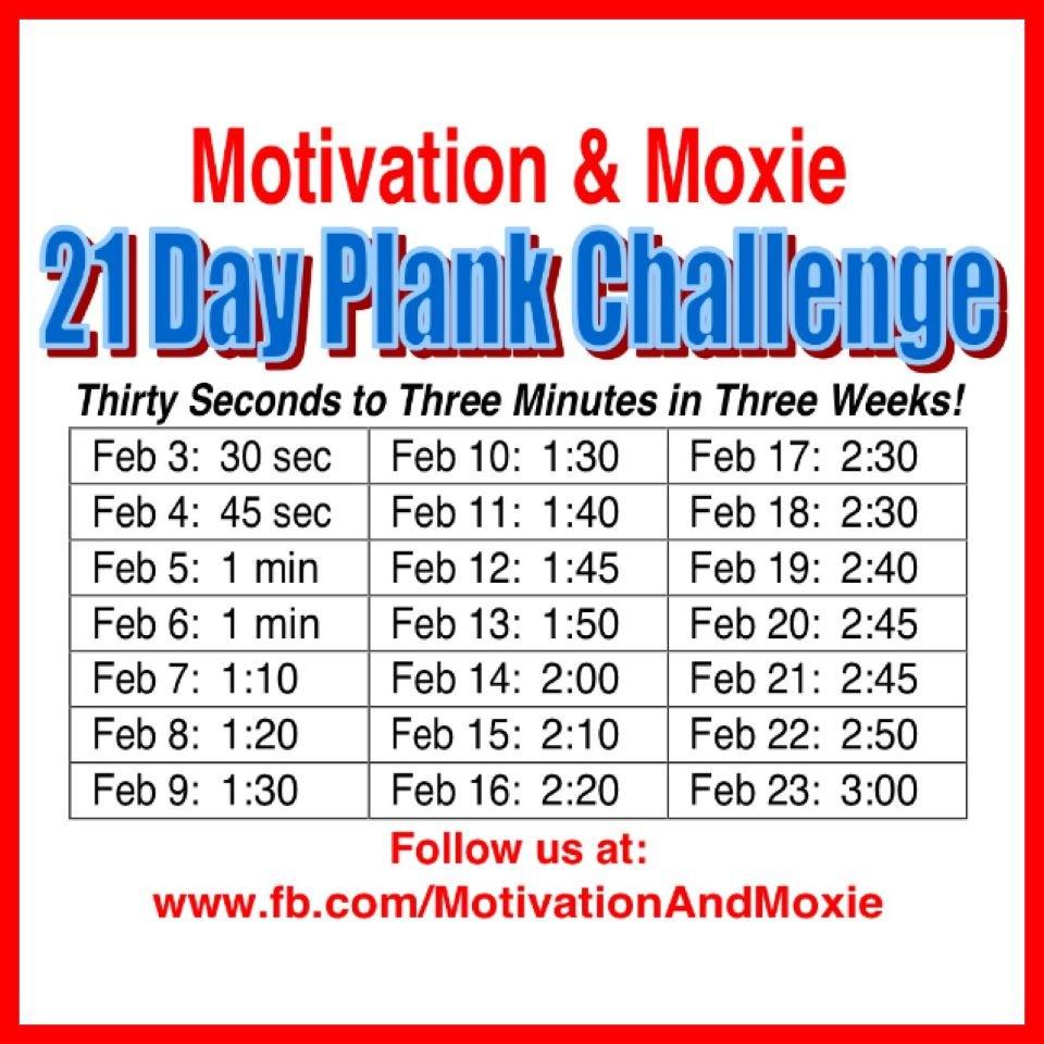 Hellsbells days: 21 day plank challenge