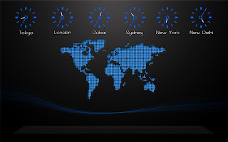 World Map and Time Zones Minimal HD Mac Desktop Wallpaper