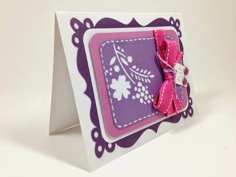 Close To My Heart Artfully Sent Cricut cartridge Fancy Frame card sideview