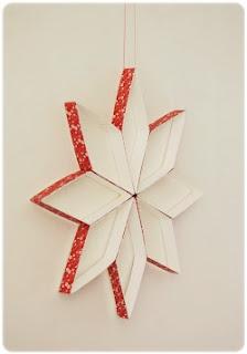 DIY estrella rollo de papel