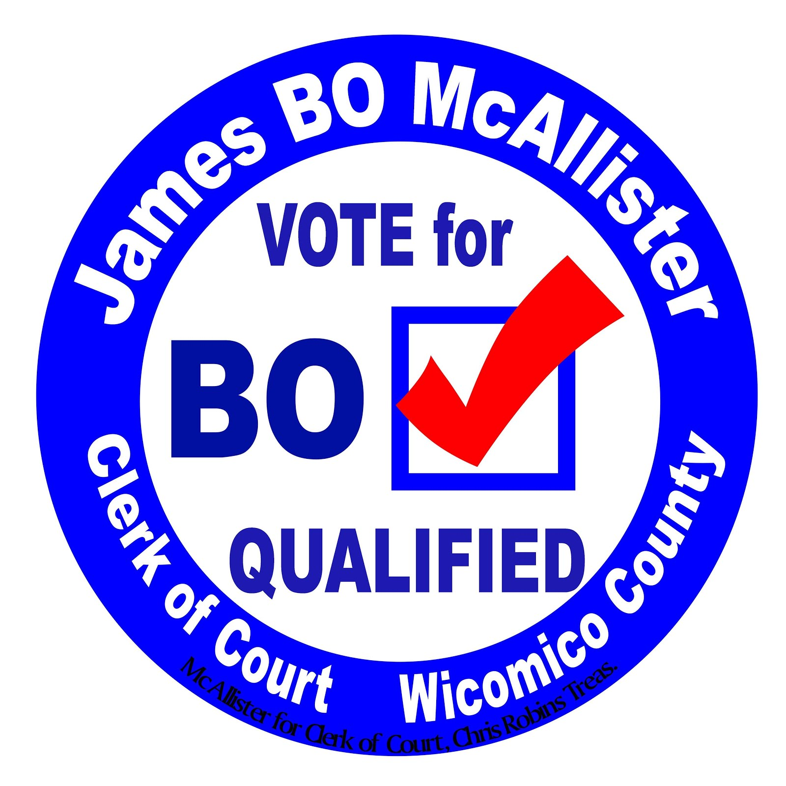 James Bo McAllister For Clerk Of The Court