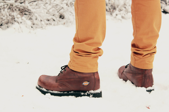 Dickies brown boots