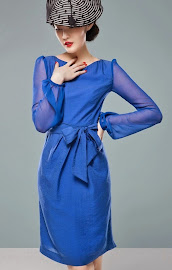 Elegant Long Sleeve Side-Tie-Ribbon Dress