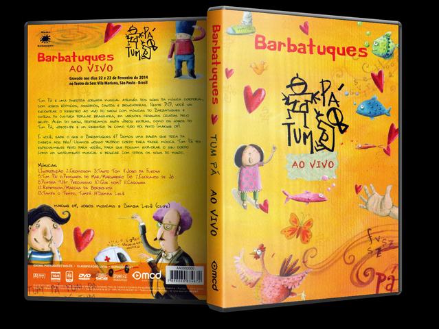 Capa DVD Barbatuques Tum Pá Ao Vivo