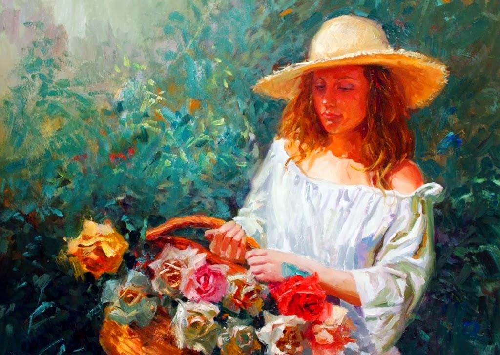 retratos-impresionistas-femeninos-con-flores