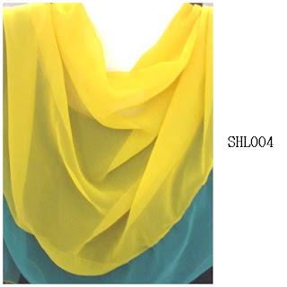 shawl halfmoon 2 layer kuning