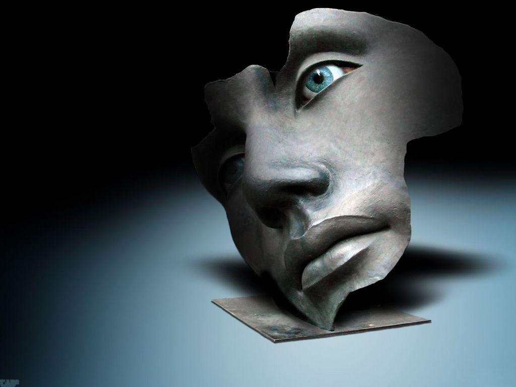 Máscaras simples de dobras abaixo de olhos