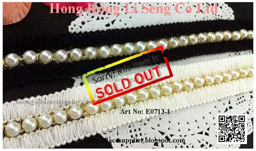 "Braid with Beads Trimming Manufacturer Wholesaler Supplier - "" Hong Kong Li Seng Co Ltd """