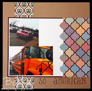 So American Scrabook Page by Stampin' Up! Demonstrator Bekka Prideaux