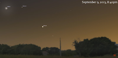 venus saturn moon september 9
