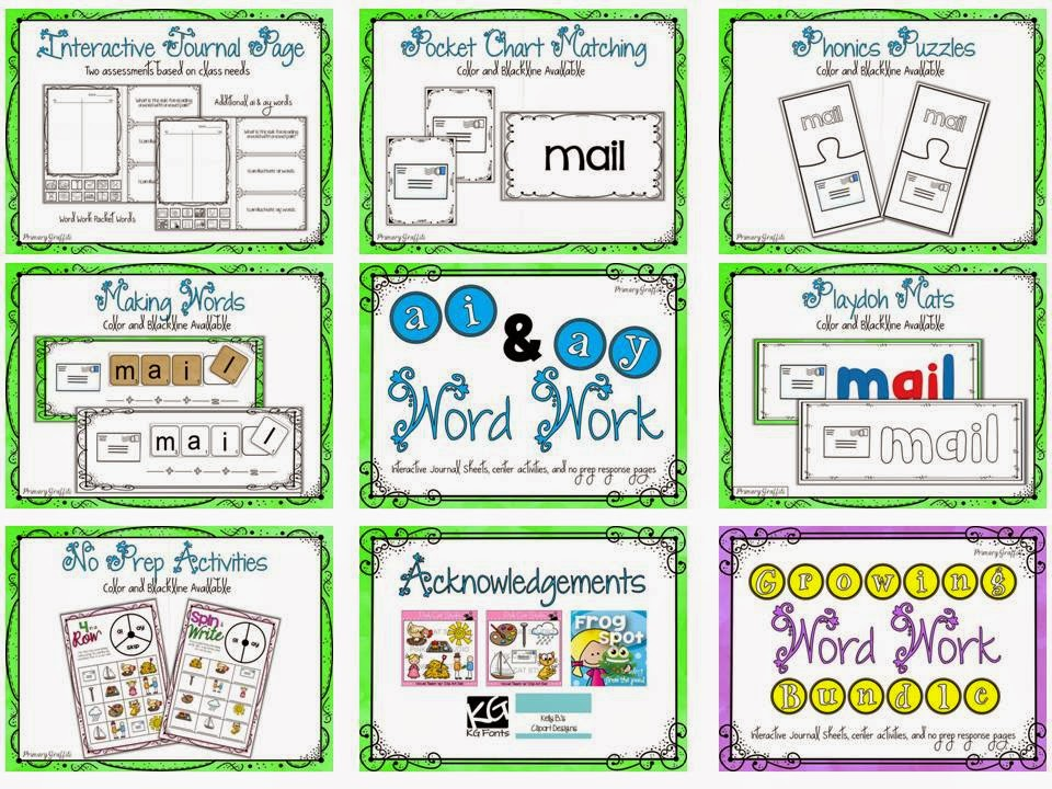http://www.teacherspayteachers.com/Product/Phonics-Word-Work-ai-ay-1200811